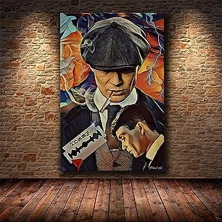 British TV Drama Peaky Crime Gangster Gunfight Blinders Handsome Shelby Murphy Muurkunst Poster Canvas Schilderij Jongen F...
