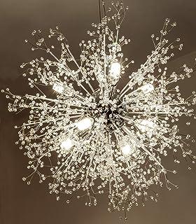 Gdnsシャンデリア花火LEDライトステンレススチールクリスタルペンダント照明天井照明器具シャンデリア照明