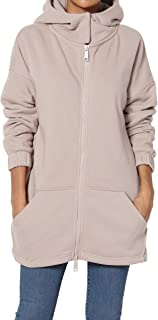 TheMogan S~3X Funnel Neck Pocket 2 Way Zip Up Loose Fit Hoodie Sweatshirt Jacket