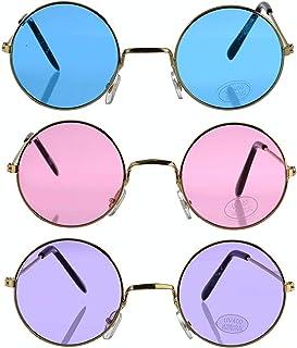 e2dd64c6799 Round Retro Hippie Fashion John Lennon Style Rimless Sunglasses (Great  Cruise Costume Accessory)