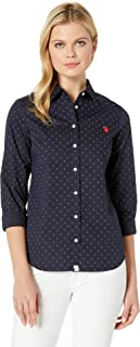 U.S. Polo Assn. Women's Long Sleeve Poplin Dress Shirt