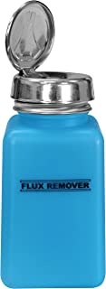 Menda - MDA-5317 MENDA 35594 One Touch Stainless Steel Liquid Dispenser Pump, ESD Safe durAstatic Bottle, Printed Flux Rem...