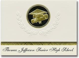 Signature Announcements Thomas Jefferson Senior High School (Los Angeles, CA) Graduation Announcements, Presidential Elite...