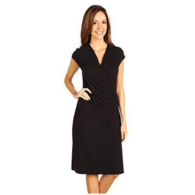 Tommy Bahama Tambour Side Gathered Dress (Black) Women