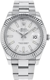 NEW Rolex Datejust II 41MM 18K White Gold Bezel Stainless Steel Mens watch 116334 WIO
