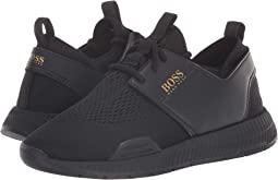 c85d25e98ca BOSS Hugo Boss. Rumba Leather Sneaker By BOSS.  208.00. Black
