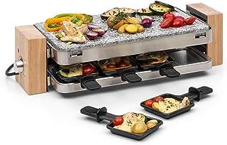 Klarstein Prime-Rib Raclette avec pierre naturelle - Appareil à raclette, Appareil 2 en 1, 8 personnes, 1500W, Thermostat,...