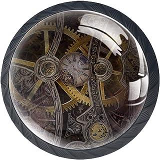 Horloge classique 4 PCS Tiroir de Porte Poignée, Bouton de Meubles, Boutons de Tiroir, Boutons de Porte, Poignées de Meubl...