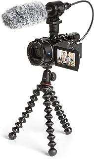 Sony FDR-AX53VGPDI - Cámara de vídeo con micrófono y trípode (Pantalla 3 grabación 4K Ultra HD Lente Zeiss Vario-Sonnar de 268 mm Zoom óptico de 20x micrófono Sony ECM-CG60 y Joby GorillaPod)