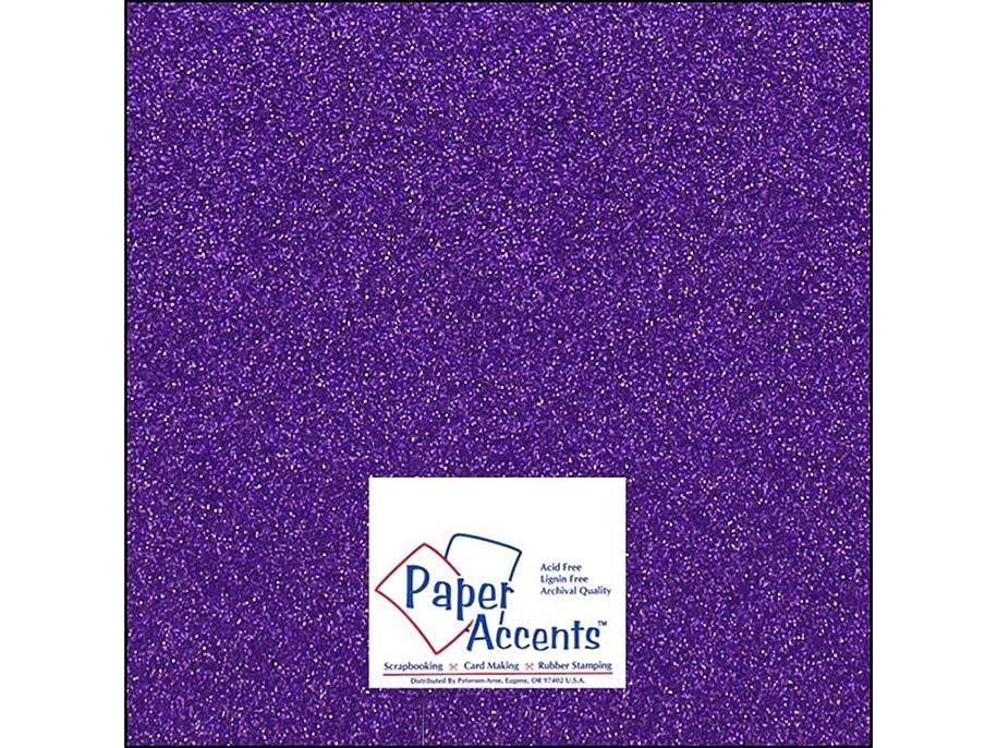 Accent Design Paper Accents Cdstk Glitter 12x12 85# Grape Gem tbgdk447614229
