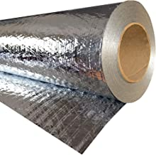 RadiantGUARD Classic Radiant Barrier Residential Grade 1000 sq ft roll   48-inch by 250-feet   C-1000-B   Breathable Reflective Attic Foil House Wrap Insulation – Blocks 95% of Heat