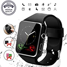 Smart Watch, Bluetooth Smartwatch Touch Screen Wrist Watch with Camera/SIM Card..