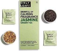 Onlyleaf Jasmine Green Tea , 27 Tea Bags (25 Tea Bags + 2 Free Exotic Samples)