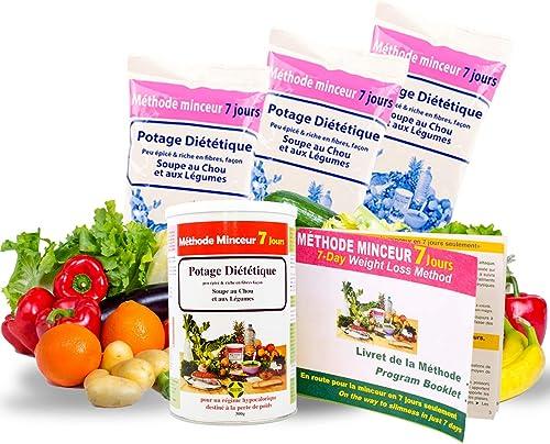 Annedelona CURE METHODE MINCEUR 21 JOURS NATURELLE ET EFFICACE. Potage Diététique Soupe au Chou et Légumes Riche en F...