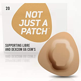 NOT JUST A PATCH - Freestyle Adhesive Patches Libre Sensor - Patches Dexcom CGM Adhesive Patch G6 - Hypoallergenic Waterproof Adhesive - 20 Pack Patch Adhesive - Diabetic Adhesive Patch CGM - Beige