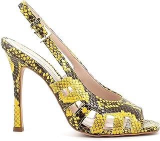 Pierfrancesco Vincenti Sandali pitonati con Tacco Alto a Spillo - Scarpe Donna Made in Italy Colore Giallo