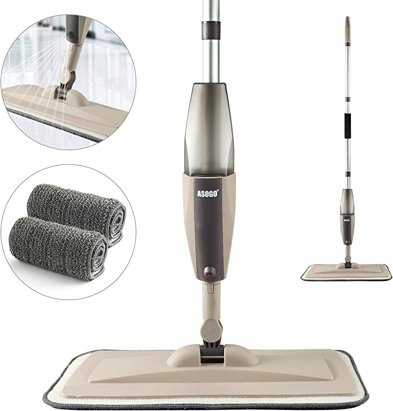 Spray Mop For Floor Cleaning Hardwood Floor Mop With A Refillable Spray Bottle And 2 Washable Pads Flat Mop For Home Kitchen Hardwood Laminate Wood Ceramic Tiles Floor Cleaning