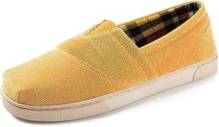 RockDove Men's Corduroy Memory Foam Loafer Slipper with Indoor Outdoor Rubber Sole