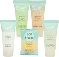 Eco Botanics Hotel Size Toiletries Set | 1-Shoppe All-In-Kit Shampoo and Conditioner, Body Wash, Lotion & Bar Soap | Ameni...