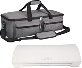 Luxja Bag for Silhouette Cameo 3, Carrying Case for Cutting Machine and Accessories, Compatible with Cricut Explore Air (Air2), Cricut Maker and Silhouette Cameo 4, Gray (Patent Pending)