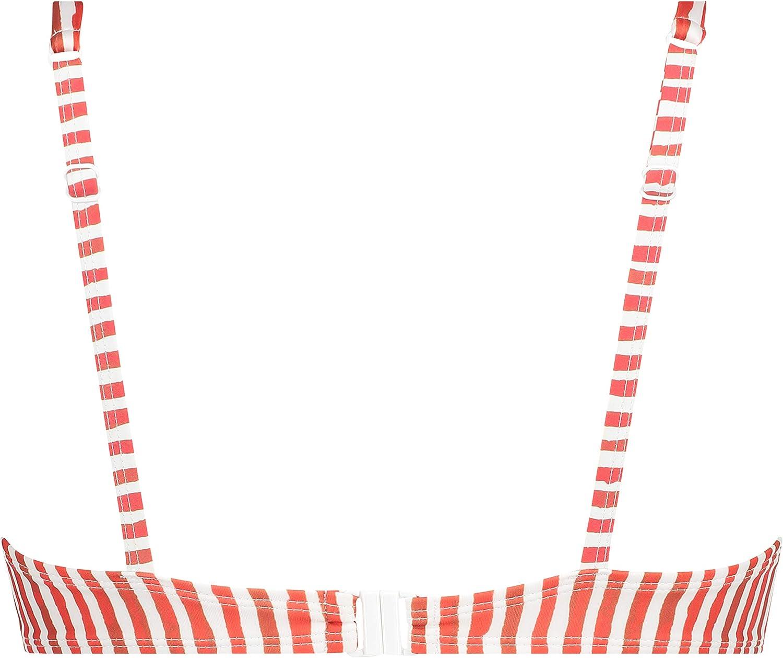 HUNKEM/ÖLLER Damen Ungepolstertes B/ügel-Bikinioberteil mit Schleife aus nachhaltigem Material
