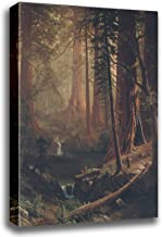 Canvas Print Wall Art - Giant Redwood Trees of California - Albert Bierstadt - Gallery Wrapped - 10x12 inch