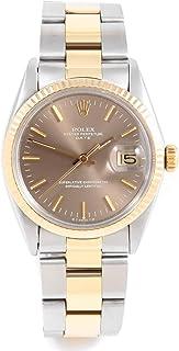 Rolex 1505 Ladies/Mens 34mm Date Model - Slate Dial - Oyster Bracelet (Certified Pre-Owned)