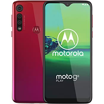 Moto G8 Play, Unlocked, International GSM only, 2/32GB, 13MP Camera, 2019, Red (XT2015-2)