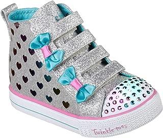 Skechers Kids' Shuffle Lite-Fancy Flutters Sneaker