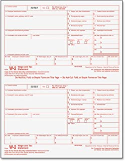 TOPS 22991 W-2 Tax Form, Six-Part Carbonless, 50 Forms (full size 8.5