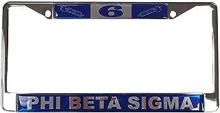 Desert Cactus Phi Beta Sigma Line Number # Metal License Plate Frame for Front Back of Car Sigma (#6 License Plate Frame)