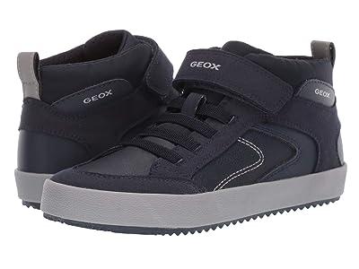 Geox Kids Jr Alonisso 41 (Little Kid/Big Kid) (Navy/Grey) Boys Shoes