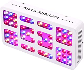 MAXSISUN 300W LED Grow Light Reflector Panel Full Spectrum for Indoor Horticulture Greenhouse Soil Hydroponics Plants Veg and Bloom