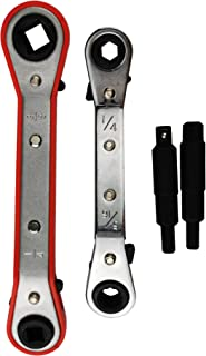 3//8 x 5//16 Square 1//4 x 3//16 Square 3//8 x 5//16 Square Wisepick Hand Tool Set Service Wrench 1//4 x 3//16 Square