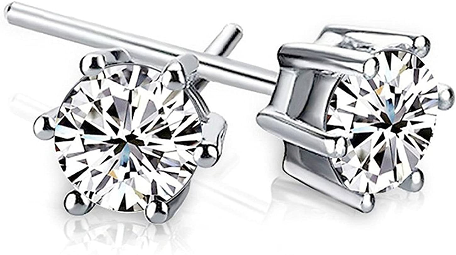 Z2Z 925 Sterling Silver 4mm Cubic Pron Some reservation New York Mall Zirconia Classic Basket 8