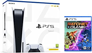 PS5 Console Sony PlayStation 5 - Standard Edition, 825GB SSD, 60FPS, 4K, HDR (Avec lecteur) + Ratchet & Clank: Rift Apart...