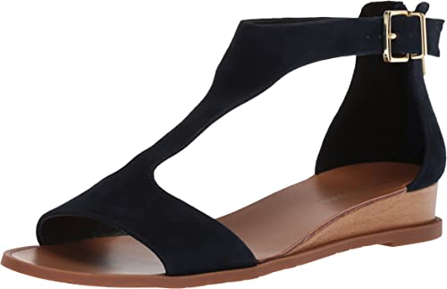 Kenneth Cole Cole Cole New York Wohommes Judd Faible Wedge T-Strap Sandal, Marine, 8.5 M US 589
