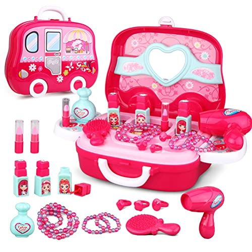 Role Play Jewelry Kit For Girls Toy Set Princess Suitcase Gift Kids Children 3 Years