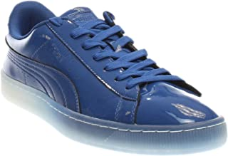 PUMA Mens Basket Patent Ice Fade Casual Sneakers,