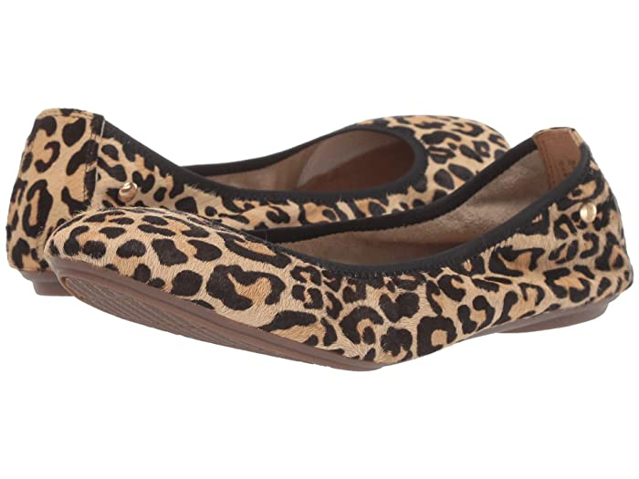 Hush Puppies  Chaste Ballet (Leopard Haircalf 1) Womens Flat Shoes