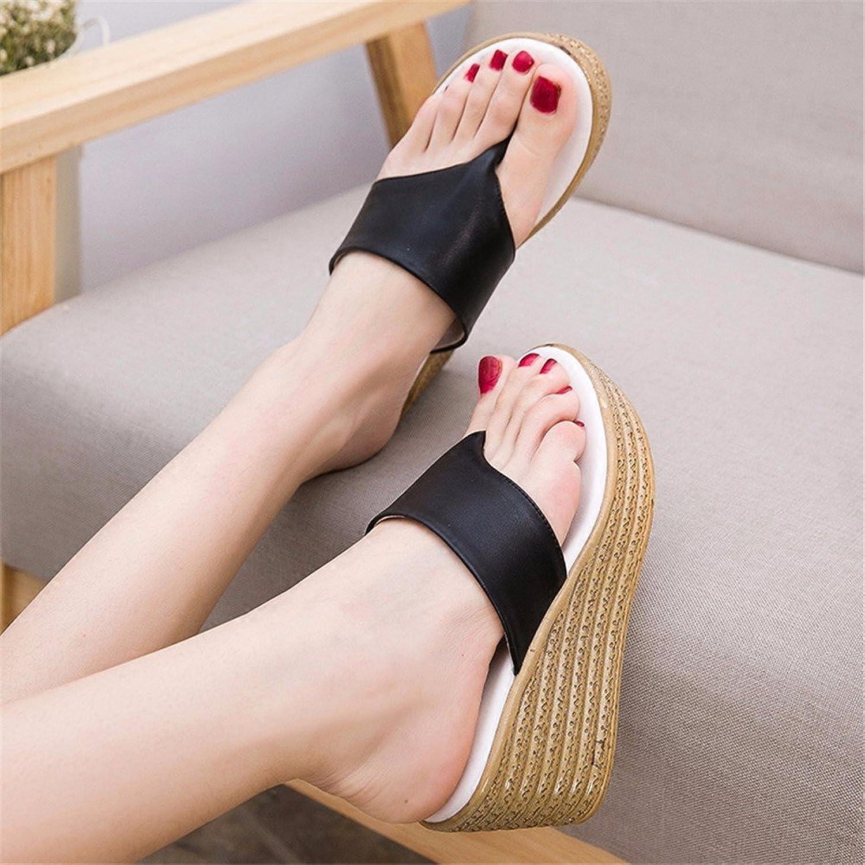 YMFIE Sommer Damen Flip-Flops Outdoor-Urlaub Wasserdicht Rutschfeste Keil Sandalen und Hausschuhe Sandalen