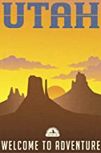 Utah Welcome to Adventure Retro Travel Art Cool Wall Decor Art Print Poster 12x18