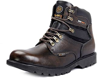 Bacca Bucci Mens 6 inches Steel Toe Cap Real Grain Leather Outdoor Laceup Boots/Warranted Qualtiy & Durable Boot