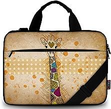 ICOLOR Unisex Laptop-Schultertasche, Messenger-Tasche, Griff oben, Bronze, Größe: 14-15,6 Zoll