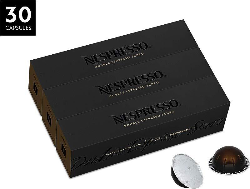 Nespresso VertuoLine Double Espresso Scuro Dark 30 Capsules
