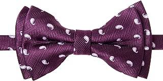 Retreez Chic Preppy Polka Dots Woven Microfiber Pre-tied Boys Bow Tie