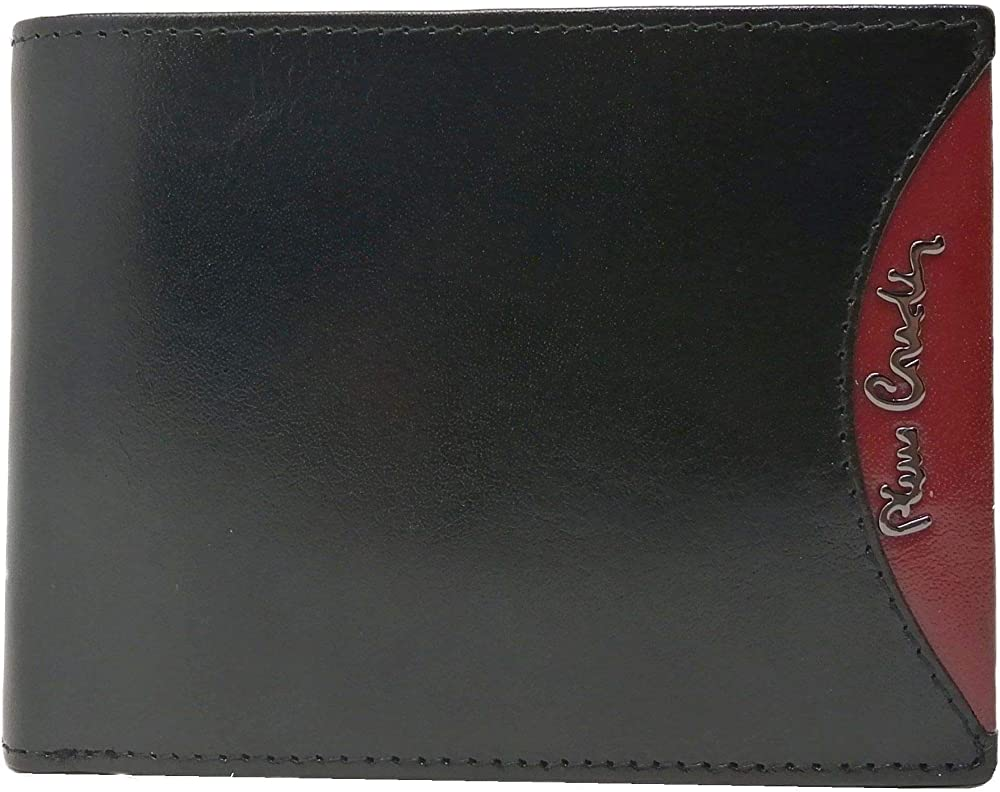 pierre cardin portafoglio portamonete per uomo in pelle