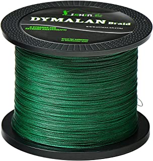 JIMEI Braided Fishing Line by DYMALAN: 4-Strand Line, Abrasion Resistant PE Material for..