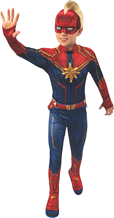 Amazon Com Rubie S Marvel Captain Marvel Child S Deluxe Light Up Costume Small Clothing Your little herione will feel strong and powerful when dressed in this deluxe captain marvel hero suit. captain marvel child s deluxe light up