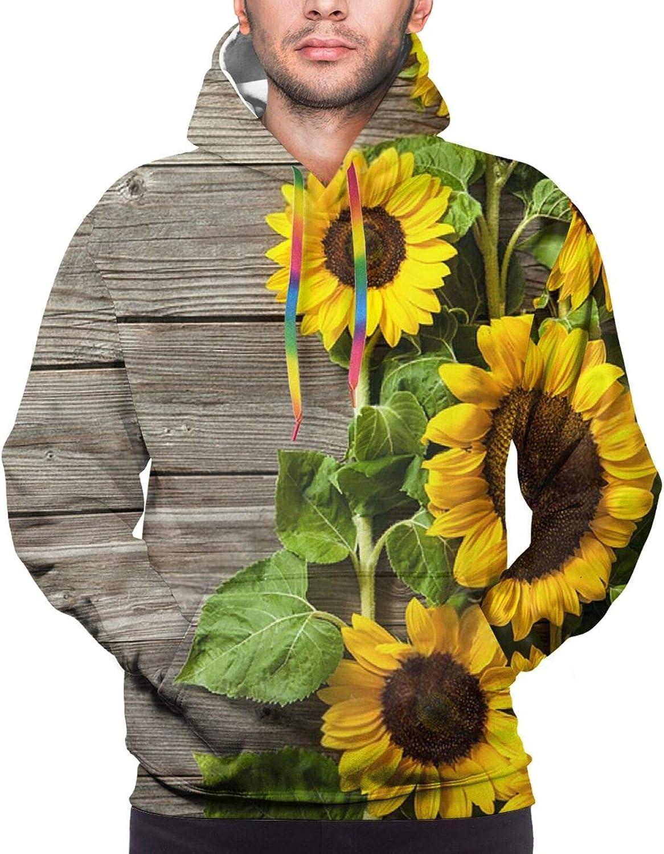 Hoodie For Teens Boys Girls Wooden Sunflower Board Hoodies Fashion Sweatshirt Drawstring